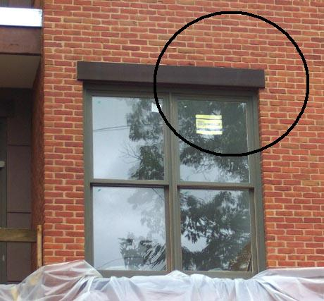 Brick veneer window lintel