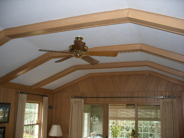 Barrel ceiling with radient water heating