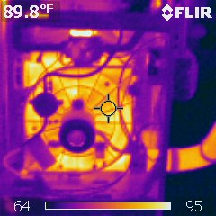 High efficiency furnace, thermal image of operation