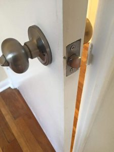 Doorknob installed backwards